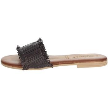 Schuhe Damen Pantoffel Dorea MH101 Braun