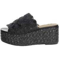 Schuhe Damen Pantoffel Keys K-4860 Schwarz