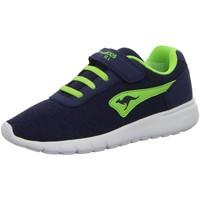Schuhe Jungen Sneaker Low Kangaroos Low K-Gard EV,dk navy/lime 18395 blau