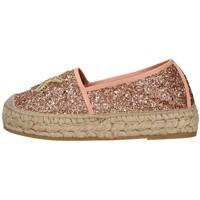 Schuhe Damen Leinen-Pantoletten mit gefloch Vidorreta 06238 ROSE