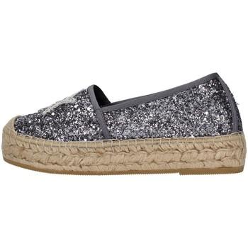 Schuhe Damen Leinen-Pantoletten mit gefloch Vidorreta 06238 SILBER