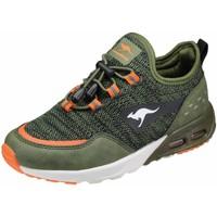 Schuhe Jungen Sneaker Low Kangaroos Schnuerschuhe KX-4000 18712/8021 oliv