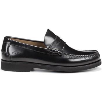 Schuhe Herren Slipper Fluchos F0047 STAMFORD MOCASIN MAN SCHWARZ