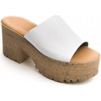 Schuhe Damen Pantoffel Purapiel 71174 WHITE