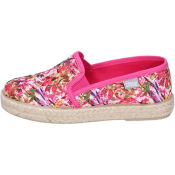 Schuhe Mädchen Leinen-Pantoletten mit gefloch Enrico Coveri BJ977 Pink