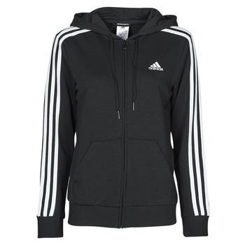 Kleidung Damen Sweatshirts adidas Performance W 3S FT FZ HD Schwarz