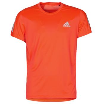 Kleidung Herren T-Shirts adidas Performance OWN THE RUN TEE Weiss / lightning / orchidée / Rot