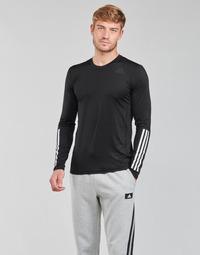 Kleidung Herren Langarmshirts adidas Performance TF LS FT 3S Schwarz