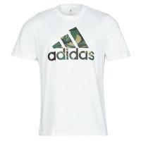 Kleidung Herren T-Shirts adidas Performance M CAMO T Weiss