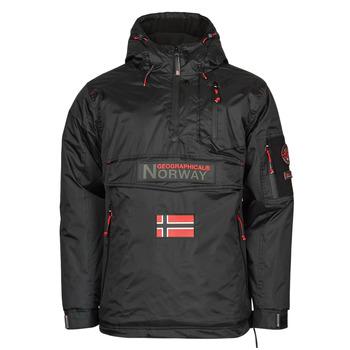 Kleidung Herren Parkas Geographical Norway BARKER Schwarz