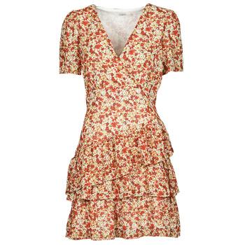 Kleidung Damen Kurze Kleider Moony Mood ORNAMA Weiss / Multicolor