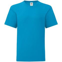 Kleidung Kinder T-Shirts Fruit Of The Loom 61023 Azur