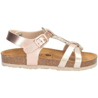 Schuhe Mädchen Sandalen / Sandaletten Plakton 135384 Sandalen Kind GOLD GOLD