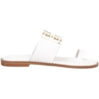Schuhe Damen Pantoffel Tsakiris Mallas 605 IRENE 6-1 Sandalen Frau WEISS WEISS