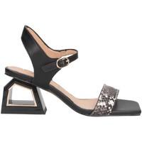 Schuhe Damen Sandalen / Sandaletten Exé Shoes Exe' MELANI-740 Sandalen Frau PYTHON / SCHWARZ PYTHON / SCHWARZ