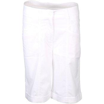 Kleidung Damen Shorts / Bermudas Cambio Accessoires Bekleidung Klementine Bermuda 7644032901 001 weiß