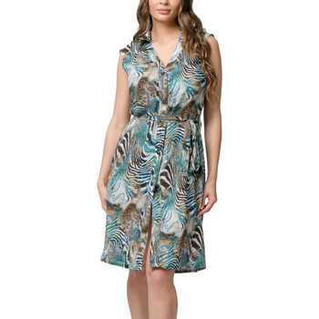 Kleidung Damen Kurze Kleider Luna Ärmelloses Strandkleid Casablanca  Splendida Grün