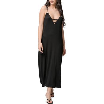 Kleidung Damen Maxikleider Luna Sommer langes Kleid Star schwarz  Splendida Perlschwarz