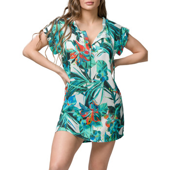 Kleidung Damen Kurze Kleider Luna Lily  Splendida kurzes Strandkleid Grün