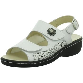 Schuhe Damen Sandalen / Sandaletten Longo Sandaletten -Bequemsandalette,weiss/w 1072020 1 weiß