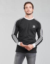 Kleidung Herren Langarmshirts adidas Originals 3-STRIPES LS T Schwarz
