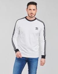 Kleidung Herren Langarmshirts adidas Originals 3-STRIPES LS T Weiss