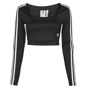 Kleidung Damen Langarmshirts adidas Originals LONG SLEEVE Schwarz