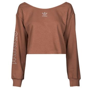 Kleidung Damen Sweatshirts adidas Originals SLOUCHY CREW? Braun