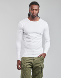 Kleidung Herren Langarmshirts G-Star Raw BASE R T LS 1-PACK Weiss