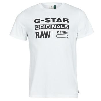 Kleidung Herren T-Shirts G-Star Raw GRAPHIC 8 R T SS Weiss