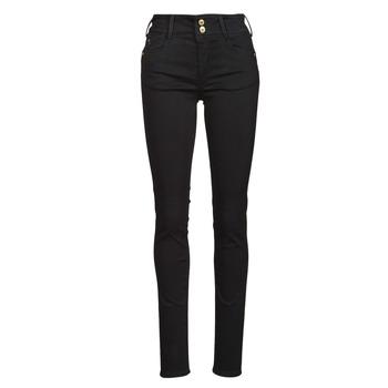 Kleidung Damen Slim Fit Jeans Le Temps des Cerises ULTRA PULP Schwarz