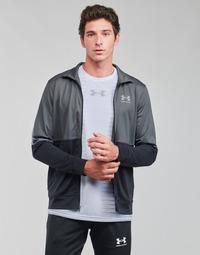 Kleidung Herren Sweatshirts Under Armour UA PIQUE TRACK JACKET Grau / Weiss
