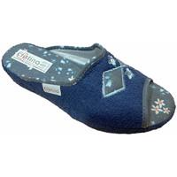 Schuhe Damen Hausschuhe Cristina CRI06921blu blu