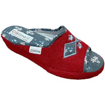 Schuhe Damen Hausschuhe Cristina CRI06921ros rosso