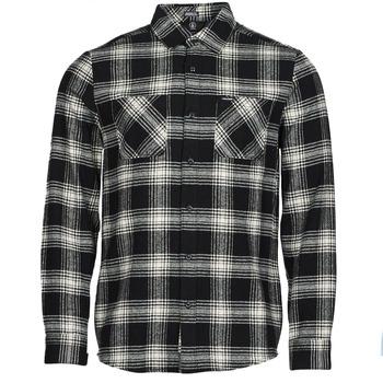 Kleidung Herren Langärmelige Hemden Volcom TONE STONE L/S Schwarz