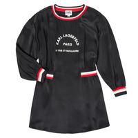 Kleidung Mädchen Kurze Kleider Karl Lagerfeld RUBIS Schwarz