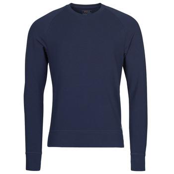 Kleidung Herren Langarmshirts Polo Ralph Lauren LS CREW SLEEP TOP Marine