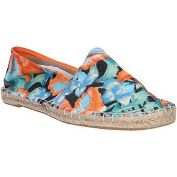Schuhe Damen Leinen-Pantoletten mit gefloch Urban B717493-B7200 Naranja