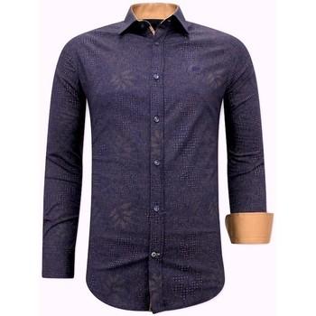 Kleidung Herren Langärmelige Hemden Tony Backer Slim Hemd Blau
