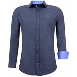Kleidung Herren Langärmelige Hemden Tony Backer Kaufen Slim Blau
