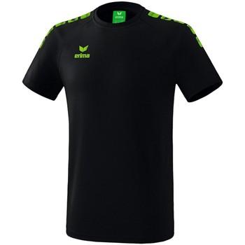 Kleidung Jungen T-Shirts Erima Sport Essential 5-C T-Shirt Kids Schwarz Grün 2081939 schwarz