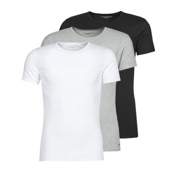 Kleidung Herren T-Shirts Tommy Hilfiger STRETCH TEE X3 Weiss / Grau / Schwarz