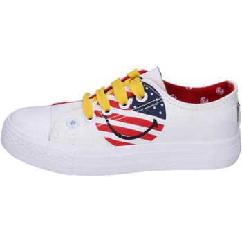 Schuhe Jungen Sneaker Low Smiley BJ988 Weiß