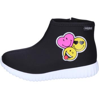 Schuhe Mädchen Low Boots Smiley BJ989 Schwarz