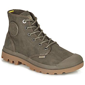Schuhe Boots Palladium PAMPA CANVAS Braun