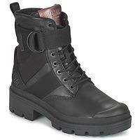 Schuhe Damen Boots Palladium PALLABASE TACT STR L Schwarz