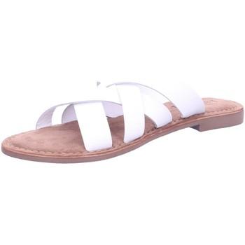 Schuhe Damen Pantoffel Lazamani Pantoletten 75.795-WHITE weiß