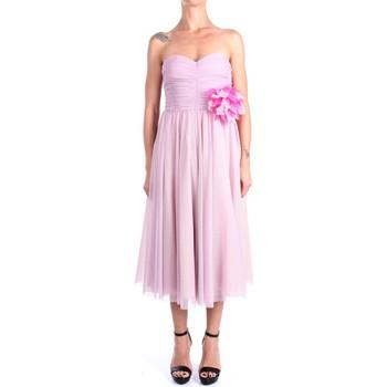 Kleidung Damen Maxikleider Hanita H.V2816.3126 Kalb Damen Rose Rose
