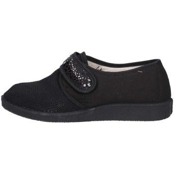 Schuhe Damen Hausschuhe Davema 366 E SCHWARZ