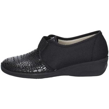 Schuhe Damen Slipper Davema 1809 SCHWARZ